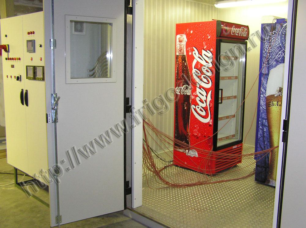 Торговоe холодильное оборудование проходит испытание в климатических камерах
